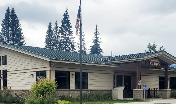 clark fork library exterior