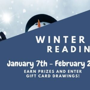 Winter Reading banner with snowman