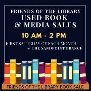 Friends of the Library Book Sale Sign